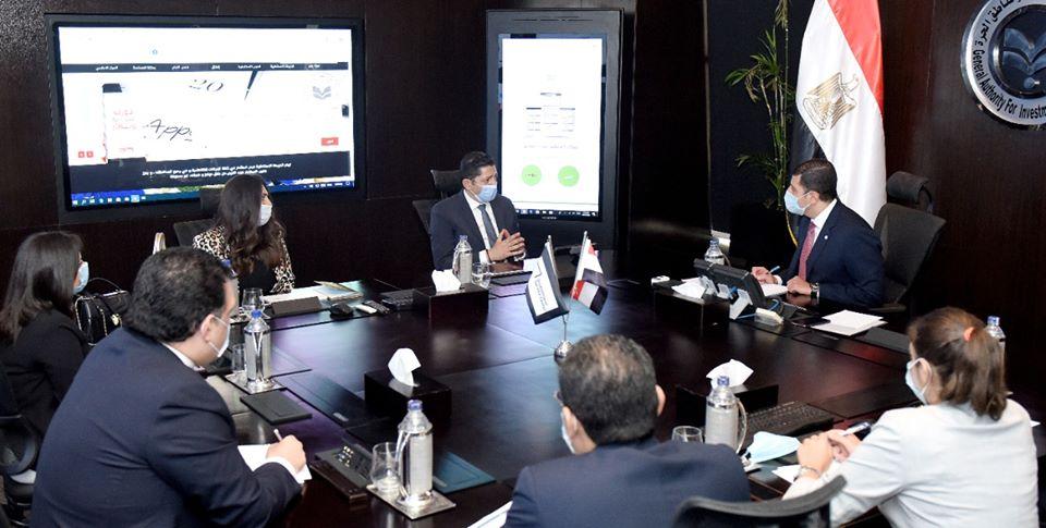رئيس هيئة الاستثمار  المصرى يلتقى ممثلي شركة بيكر هيوز الامريكية للبترول