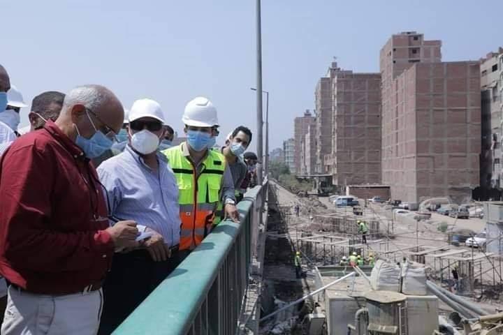 وزير النقل يتفقد اعمال تطوير الطريق الدائري حول القاهرة