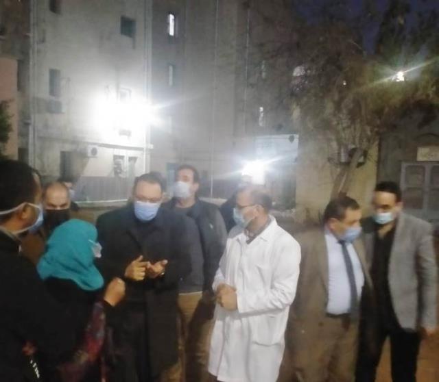 محافظ الشرقية بمصر فى زيارة ليلية لمستشفى ههيا المركزى