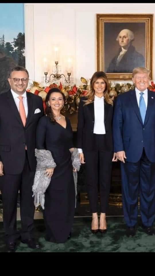 """ترامب """" في هدوء تام و بعد أحداث الكونجرس الساخنة تم زواج أبنته ( تيفاني ) علي أبن مليونير سعودي هو ( وليد الرشيد )"""