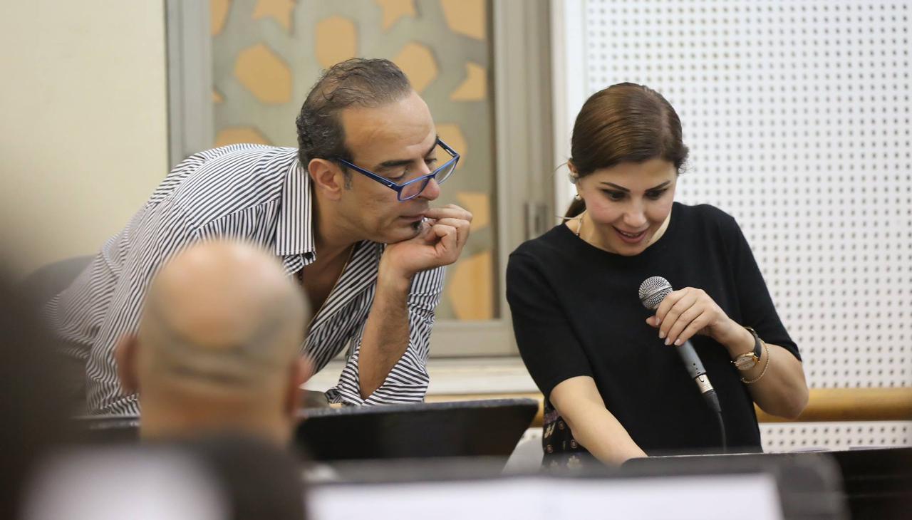 """بالصور _ كواليس الاستعداد لحفل الفنانه اللبنانيه """"ماجده الرومي"""" بقصر القبه 2 أبريل بمصاحبة المايسترو نادر العباسي"""