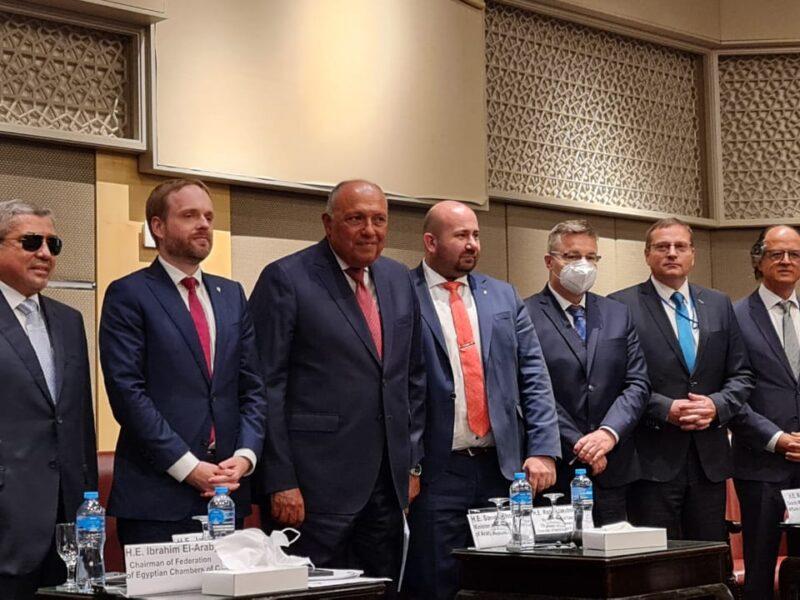 بحضور وزراء خارجية البلدين: اطلاق منتدي الأعمال المصري التشيكي من التجارة البينية الي التعاون الثلاثي لدعم اقتصاد مصر